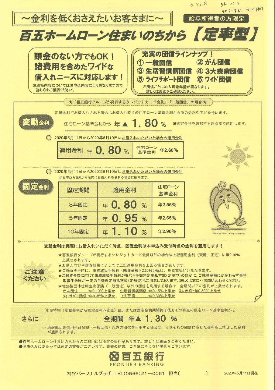 使える住宅ローン(百五銀行)