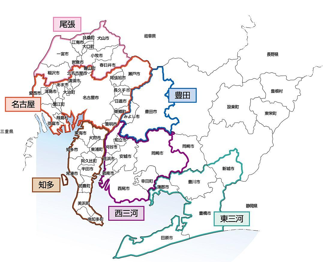 都市計画区域には市街化区域と市街化調整区域と、このような区分がなされていない区域(非線引き区域)がありますが、愛知県内においては非線引き区域はありません。