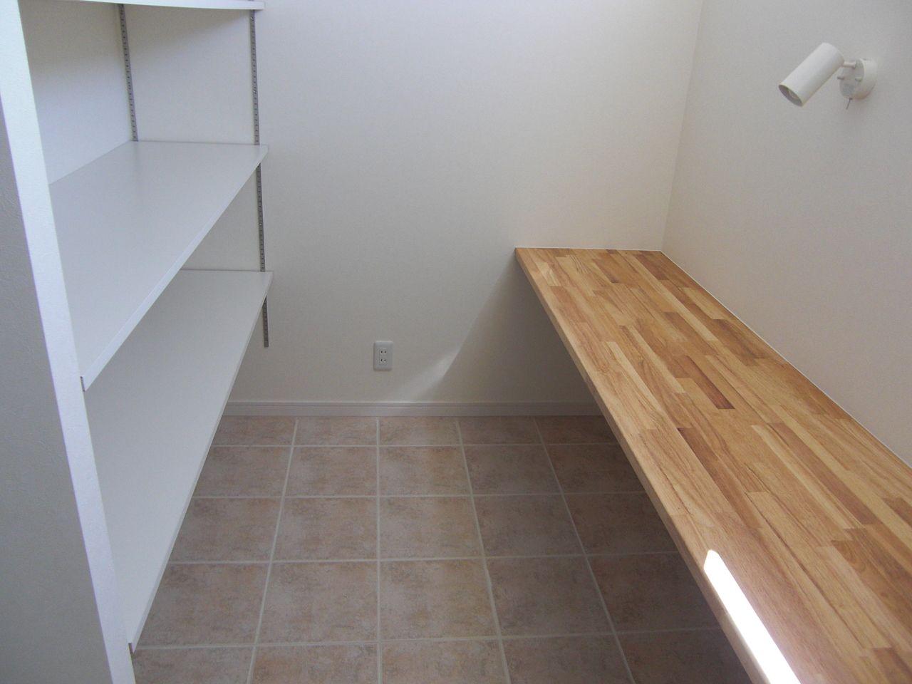 家事室も兼ねた広い洗面室です。