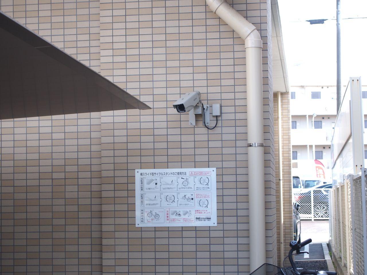 防犯カメラで盗難やいたずらを防ぎます。